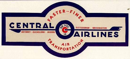 A Logo In Blue Red Featuring The Convair 240 Aerograph Aka Fishnet